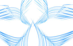 Abstract blue wings Royalty Free Stock Images