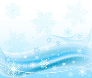 Abstract blue winter background Royalty Free Stock Images