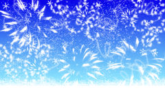 Abstract blue winter background Stock Images