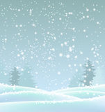 Abstract blue winter background, illustration Royalty Free Stock Photos