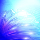Abstract blue winter background. Stock Image
