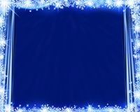 Abstract blue winter background. Abstract blue winter background silk curtains, snowflakes and glittering royalty free illustration