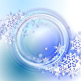 Abstract blue winter background Stock Photography