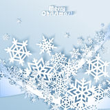Abstract blue winter background Stock Image