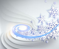 Abstract blue winter background Royalty Free Stock Image