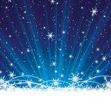 Abstract blue winter Christmas Royalty Free Stock Image