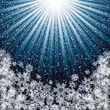 Abstract blue winter Christmas Royalty Free Stock Photo