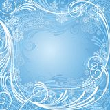 Abstract blue winter composition. With snowflakes Royalty Free Stock Images