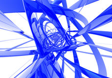 Abstract blue wires. Study of form and color, 3D rendered image produced with Bryce Royalty Free Stock Photos
