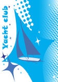 Abstract blue yacht club banner.Sea background Stock Images