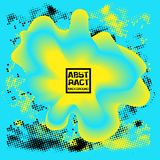 Abstract blue and yellow background. Dynamic fluid effect Vector illustration.  Stock Photos