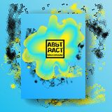 Abstract blue and yellow background. Dynamic fluid effect Vector illustration. Ectoplasm design template. Stock Images