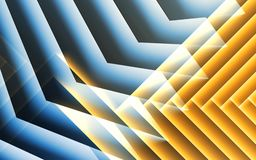 Abstract blue yellow cg background, 3 d. Abstract blue yellow cg background, geometric pattern of glowing stripes. 3d illustration stock illustration