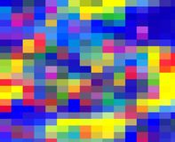 Colorful rainbow shapes, vivid abstract background and texture. Abstract blue yellow purple orange pink contrasts geometries, shapes, sparkling geometries, forms vector illustration