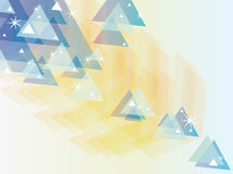 Abstract Blue Yellow Triangles Background Stock Photo