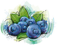 Abstract Blueberries Stock Photography