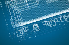 Abstract blueprint Stock Image