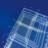 Abstract blueprint Stock Photography