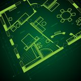 Abstract blueprint background Stock Photo