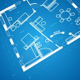 Abstract blueprint background Royalty Free Stock Photos