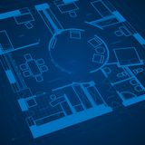 Abstract blueprint background Royalty Free Stock Image