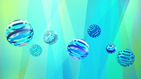 Abstract bluetone background with cool circles, for VJ background stock video footage