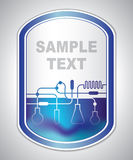 Abstract bluish laboratory label Royalty Free Stock Photos