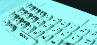 Abstract smart cell phone keyboard stock images