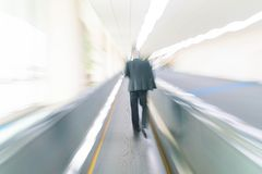 Abstract blur in airport. For background Stock Images