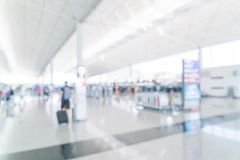 Abstract blur in airport. For background Stock Photos