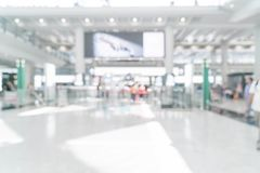 Abstract blur in airport. For background Stock Photography