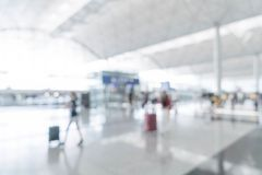 Abstract blur in airport. For background Royalty Free Stock Photography