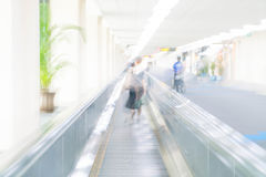 Abstract blur in airport. For background Royalty Free Stock Images