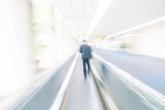Abstract blur in airport. For background Stock Image