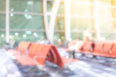 Abstract blur airport terminal hall background royalty free stock images
