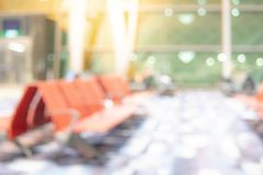 Abstract blur airport terminal hall background stock image