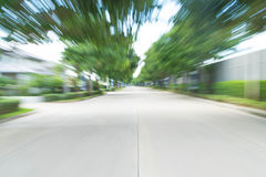 abstract blur asphalt road Stock Image