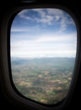 Abstract and blur background of cloudy sky window view air plane Stock Photo