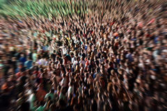 Abstract blur background of crowd of people. Watching concert Stock Photography