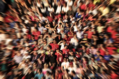 Abstract blur background of crowd of people. Watching concert or sport event Royalty Free Stock Image