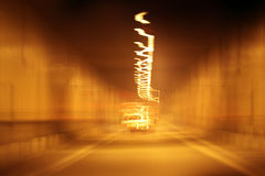 Abstract blur the background night city Stock Photo