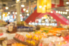 The abstract blur background of supermarket in the shopping mall Royalty Free Stock Photo