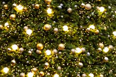 Abstract blur background of vintage Christmas tree royalty free stock image
