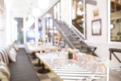 Abstract blur beautiful luxury restaurant or coffee shop. royalty free stock images