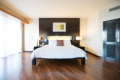 Abstract blur bedroom Royalty Free Stock Image