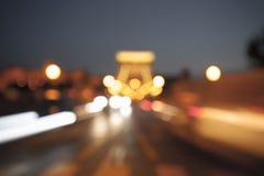 Abstract blur big city lights Royalty Free Stock Photos