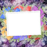 Abstract blur boke background with paper frame Stock Photos