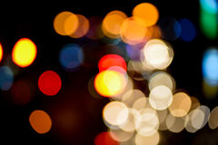 Abstract blur bokeh of Evening traffic jam on road. In city Stock Image