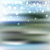 Abstract blur bokeh winter background with snowfall. For your holiday design, vector illustration eps10 Vector Illustration