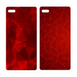 Abstract blur bright red background for mobile phone cover Stock Photos